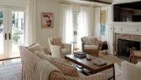Patterned Sofas - Cottage - living room - Material Girls