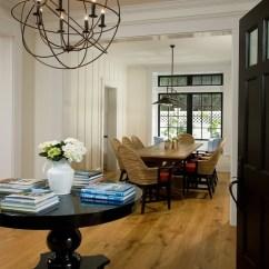 Sea Grass Chairs Black Kitchen Iron Orb Chandelier - Cottage Entrance/foyer Vallone Design