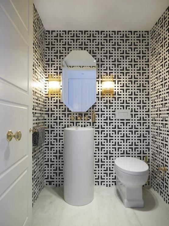 Geometric Bathroom Tiles  Contemporary  bathroom  Greg Natale