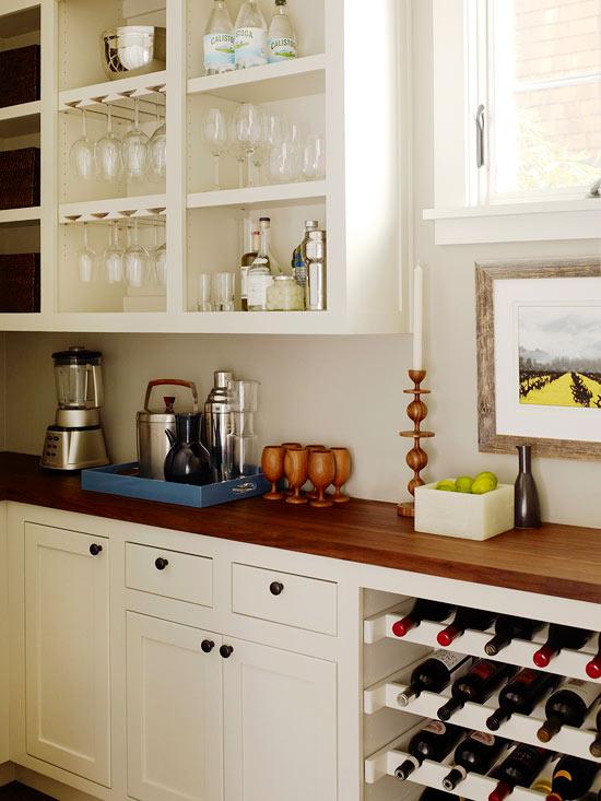 BuiltIn Wine Rack  Transitional  kitchen  BHG