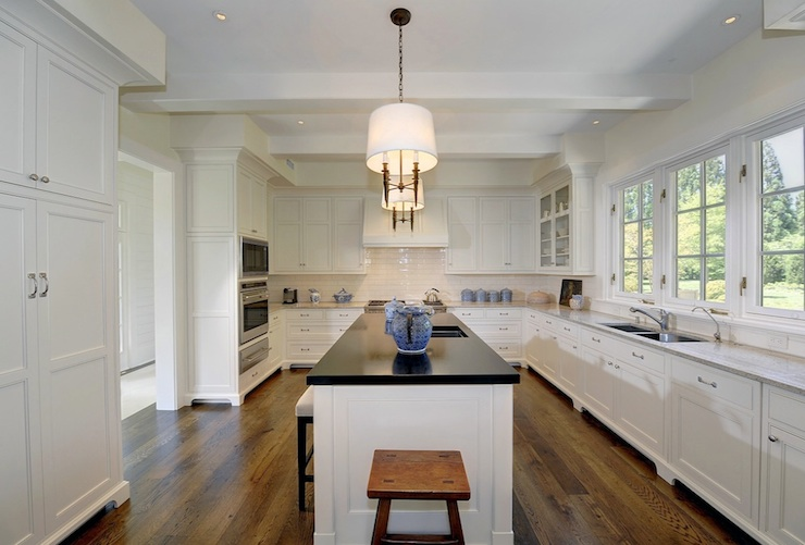 White Kitchen Cabinets With Light Gray Island White Kitchen - Traditional - Kitchen - Pricey Pads