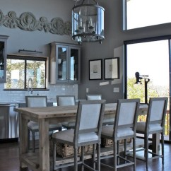 Stainless Steel Kitchen Pendant Light Cabinets Omaha Restoration Hardware Salvaged Wood Island Design Ideas
