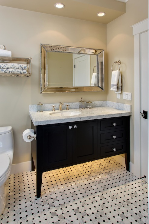 Black Bathroom Vanity  Transitional  bathroom  Latala Homes
