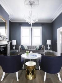 Blue and Gray Living Room - Contemporary - living room ...