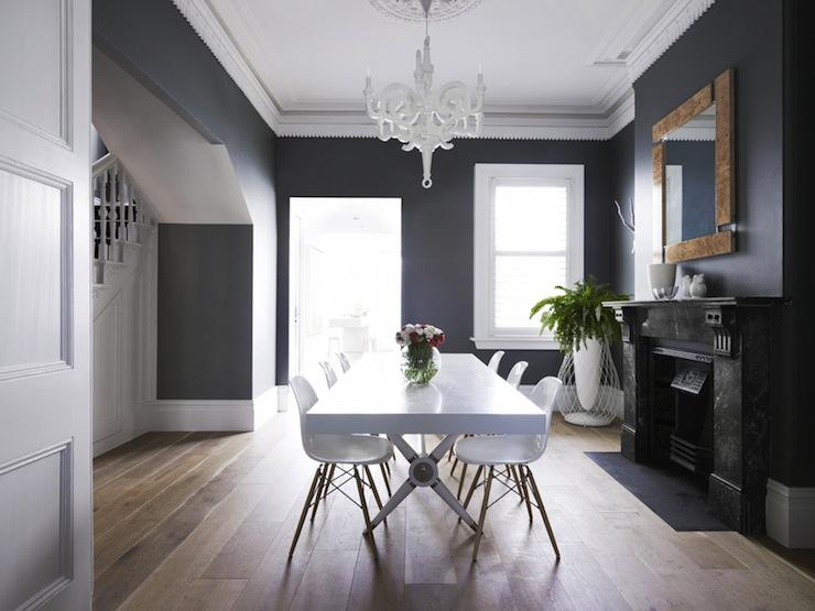 eames molded wood side chair bedroom corner crown dentil molding - contemporary dining room greg natale