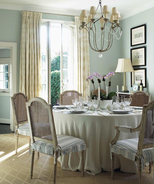 Duck Egg Blue Paint Color French Dining Room Anne Hepfer Designs
