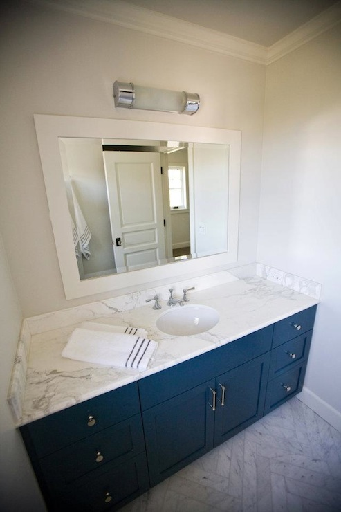 Blue Bathroom Cabinets  Contemporary  bathroom  Andrea