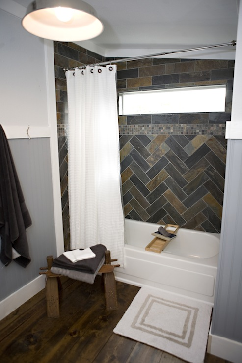 Blue Boys Bathroom Transitional Bathroom Kara
