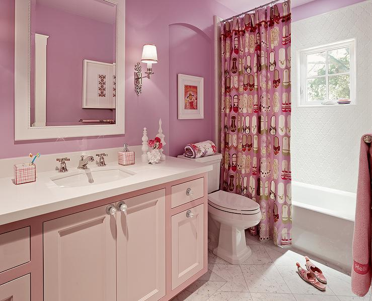 Girls Bathroom Design by Coddington Design