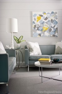 Yellow Blue And Grey Living Room