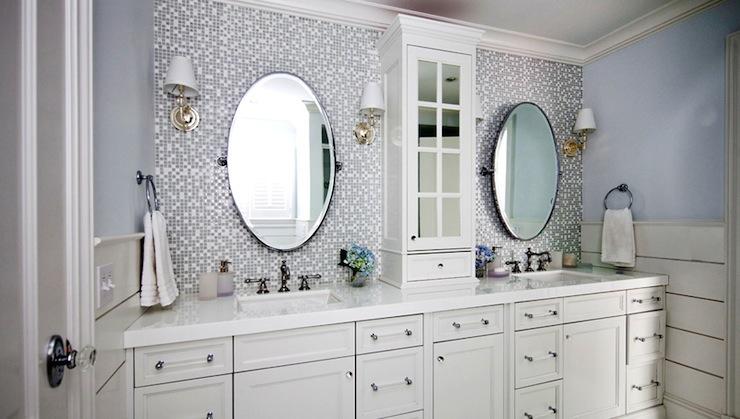 Mosaic Glass Tile Backsplash  Contemporary  bathroom