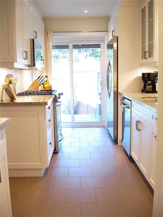 Galley Kitchen  Contemporary  kitchen  Behr Baked Brie