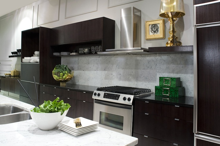 Espresso Cabinets  Contemporary  kitchen  Smith Boyd Interiors