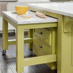 Narrow Kitchen Countertops Apron Sink Avocado Green Paint Color Design Ideas