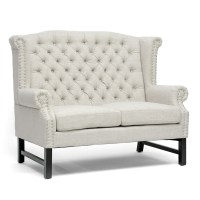 High Back Wing Sofa Chesterfield Newby 3 Seater Queen Anne ...