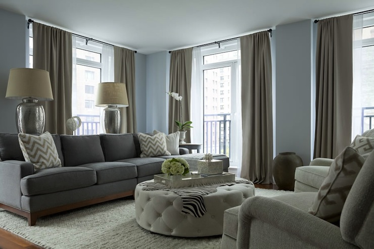 gray and taupe living room wall paintings for sofa contemporary the elegant abode
