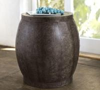Marlow Metal Drum Accent Table - Pottery Barn