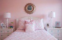 Pink Girl's Bedding and Benjamin Moore Touch of Pink