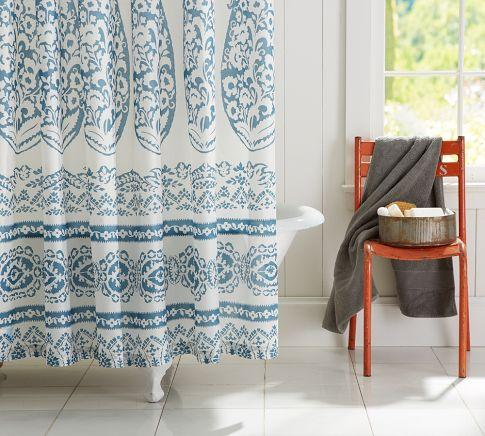 Lori Paisley Shower Curtain  Pottery Barn