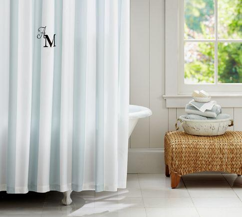 PB Classic Stripe Shower Curtain  Pottery Barn