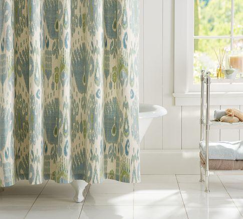 Ikat Shower Curtain Pottery Barn