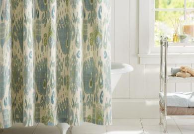 Target Ikat Shower Curtain