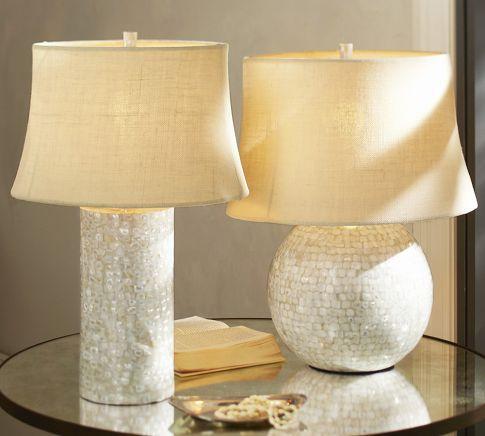MotherofPearl Table Lamp Bases  Pottery Barn