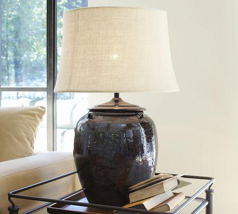 Courtney Ceramic Table Lamp Base  Pottery Barn