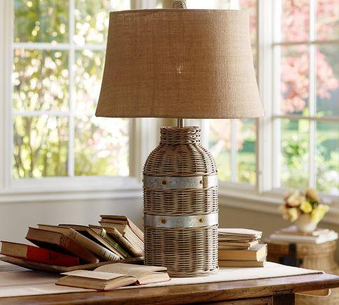 hanging chair rope covers hire liverpool wicker table lamp base - pottery barn