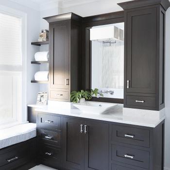 Espresso Cabinets  Modern  bathroom  Terracotta Studio