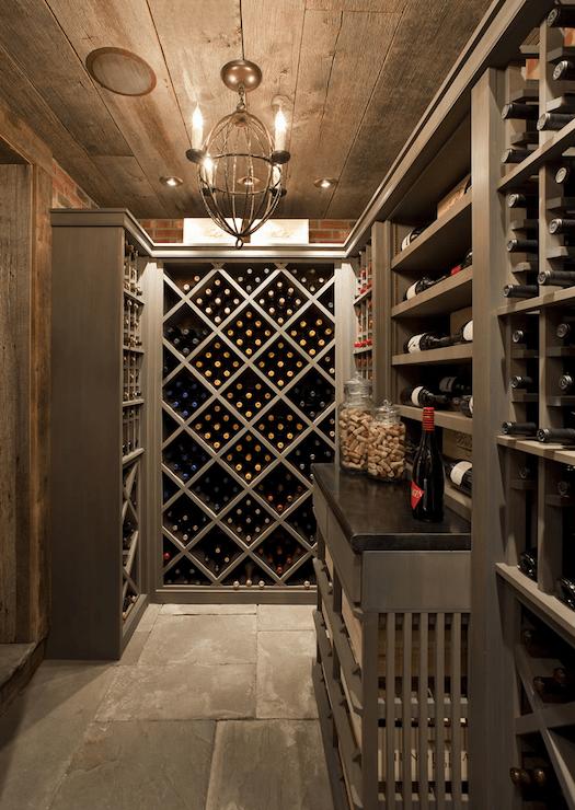 Wine Cellar  Country  Basement  Philip Gorrivan Design