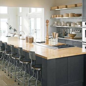 Charcoal Gray Cabinets  Contemporary  kitchen  Style at