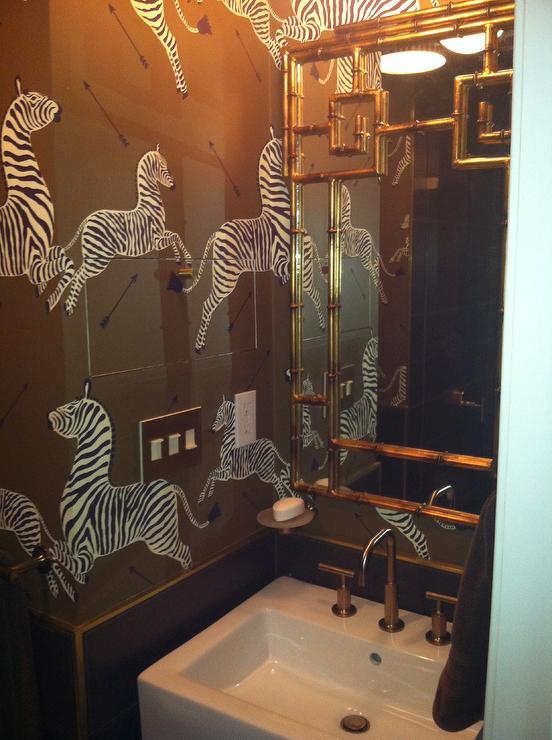 kitchens for less green kitchen decor brown zebra wallpaper - transitional bathroom