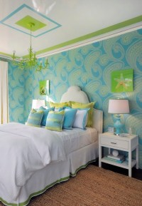 Turquoise and Green Teen Girl's Room - Contemporary ...