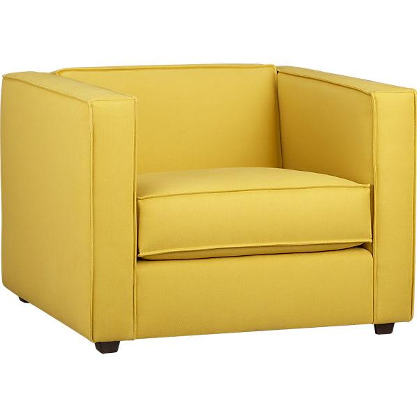 Gray And Yellow Armchair