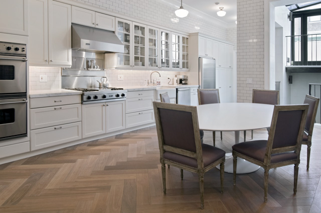 Herringbone Hardwood Floor