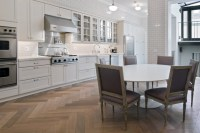 Herringbone Hardwood Floor - Contemporary - kitchen - Paul ...
