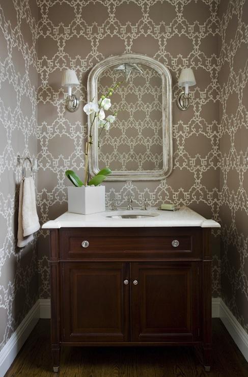 Chic Powder Room  Transitional  bathroom  Kate Coughlin