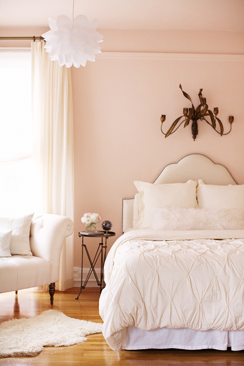 White and Pink Bedroom  Transitional  bedroom  Crystal Gentilello