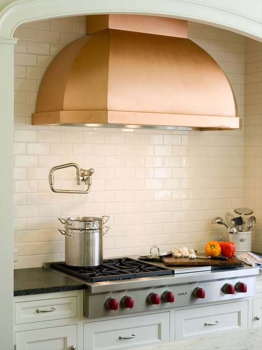copper kitchen hoods costco aid mixer hood transitional alisberg parker