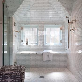 Subway Tile Shower Vintage Bathroom Chic Design Investments