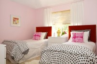 Pink and Red Girls' Room - Contemporary - girl's room ...
