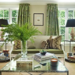 Green Curtains For Living Room Cheap Couches Cottage Hudson Interior Designs