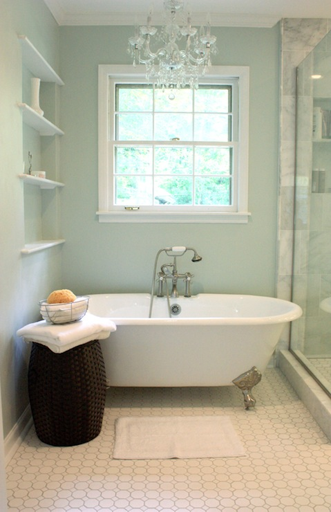 Cast Iron Tub  Traditional  bathroom  Sherwin Williams