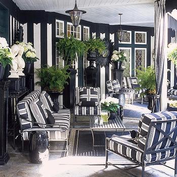 black and white striped furniture