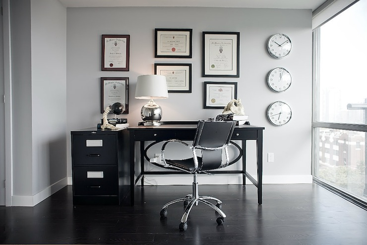 Gray and Black Office  Contemporary  denlibraryoffice