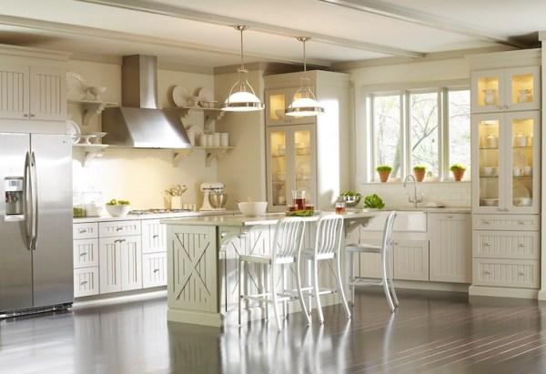 martha stewart white kitchen Martha Stewart Kitchen Cabinets - Transitional - kitchen