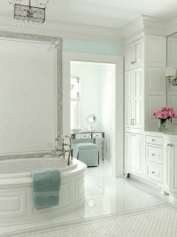 White and Turquoise Bathroom - Traditional - bathroom - At ...