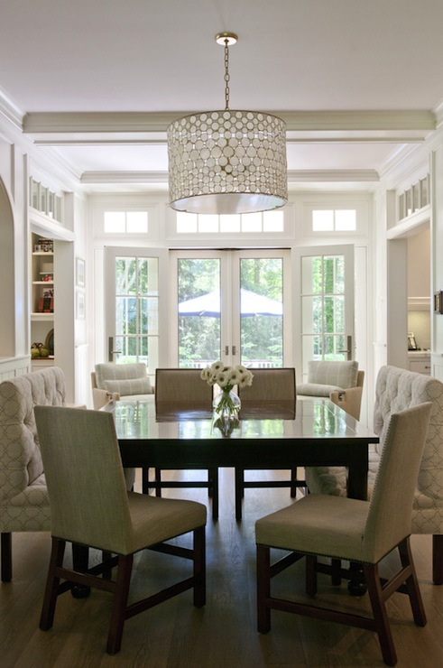 Square Dining Table  Transitional  dining room  Nightingale Design