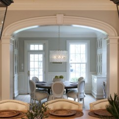 Round Chair Pad Dining Chairs With Arms Upholstered Carriage Lanterns - Transitional Room Nightingale Design